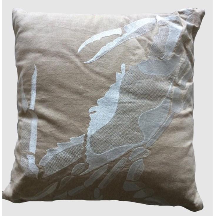 Almofada Carangueijo 50x50cm Tecido Off White