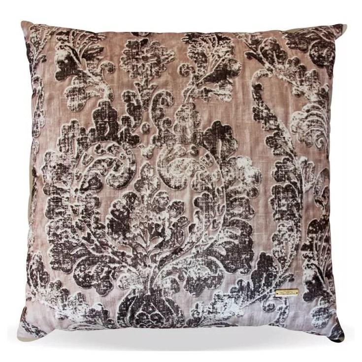 Almofada Elegance Veludo Arabesco Bege - 50cmx50cm