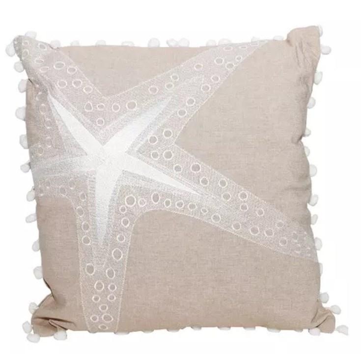 Almofada Estrela do Mar Tecido Off White - 45cmx45cm