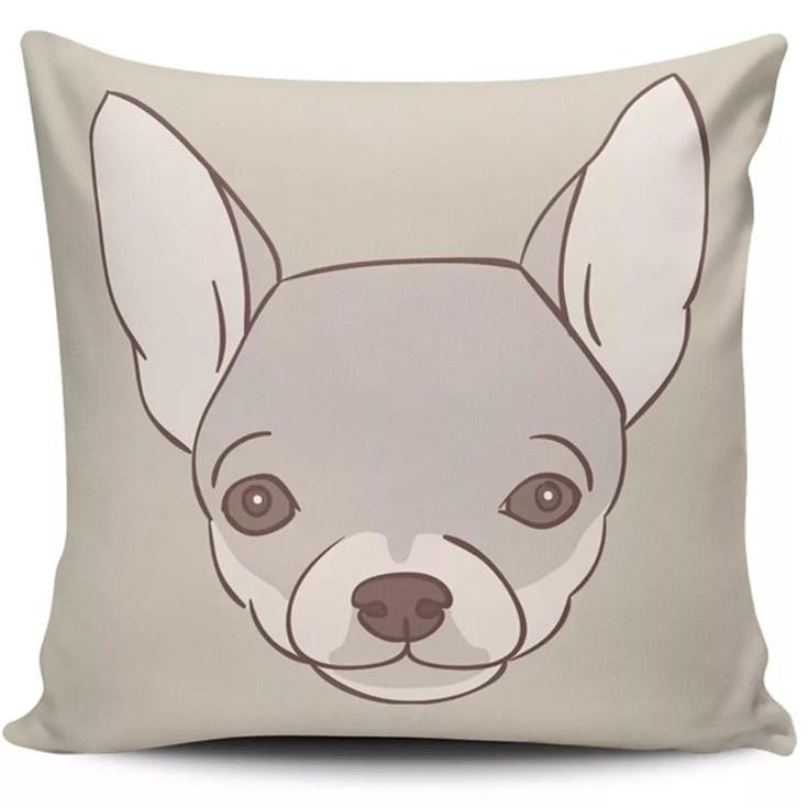 Almofada Pet Chihuahua Branco - 45cmx45cm