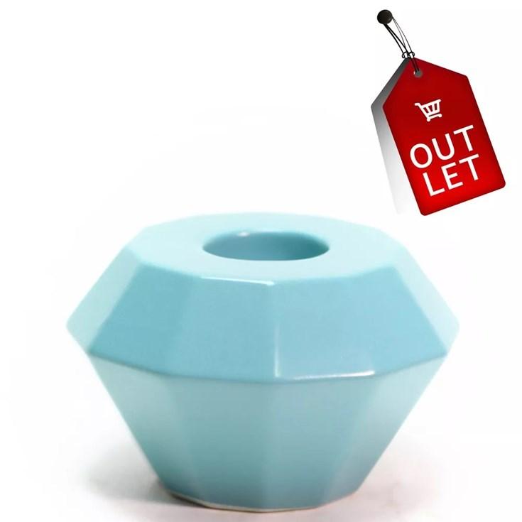 Castiçal Bougie Diamond Simple Azul