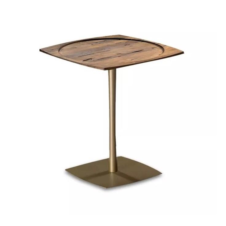 Mesa de Apoio Ellen em Metal Dourado Pequena