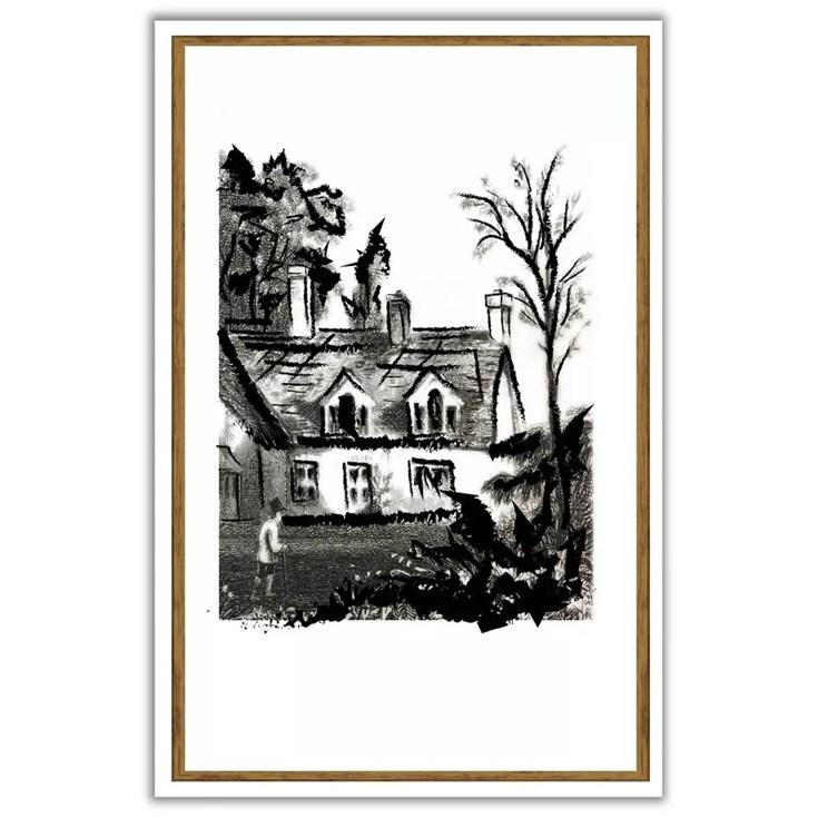 Quadro com Vidro Cottage I - Coleção Clássico por Lisi Wendel