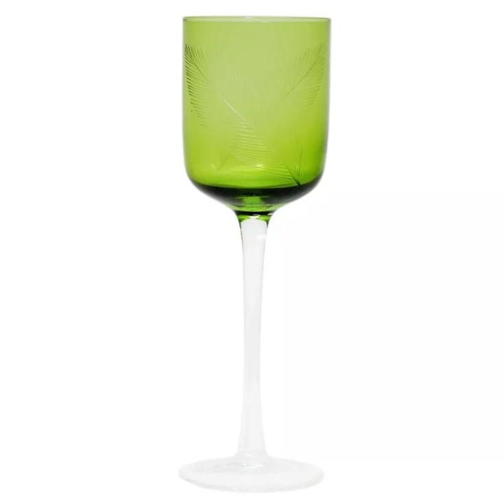 Taca De Vidro Palha Verde Claro Menor